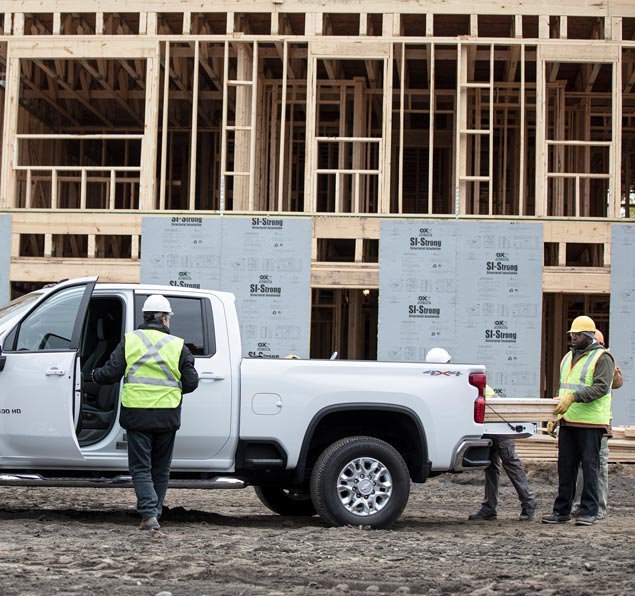 Construction Workers Using OnStar Vehicle Insights Tracking Tool